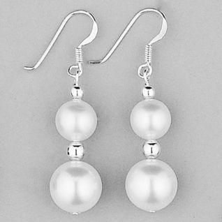 925 Sterling Silver Pearl Drop Earrings