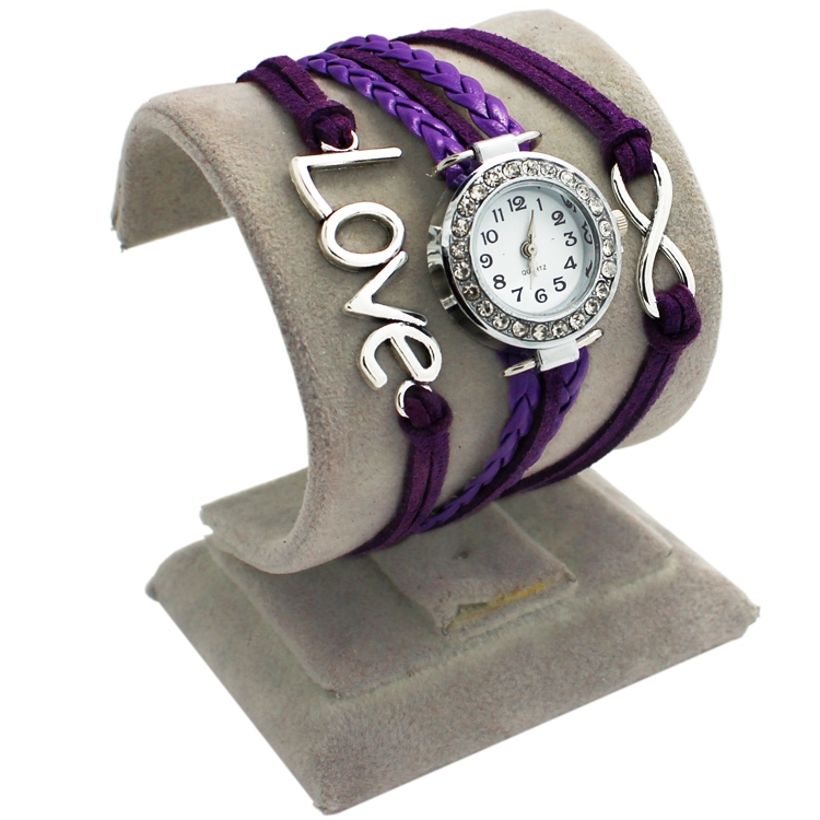 Purple Leather Love Watch