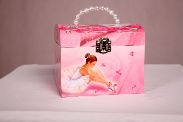 Ballerina Musical Jewellery Box with Pearl Handle