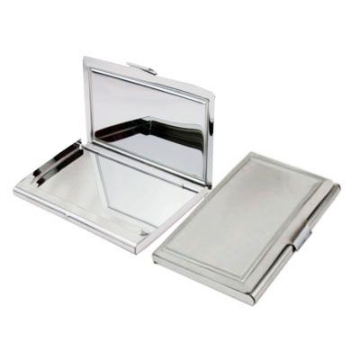 Slimline Silver Stainless Steel Business/Credit Card Case