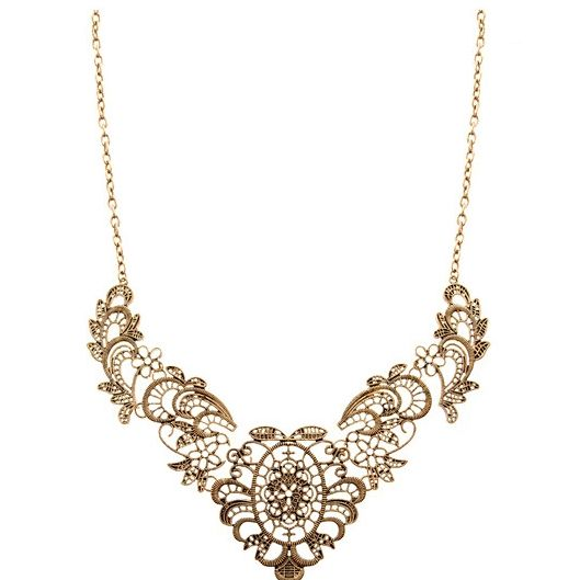 Filigree Collar Shape European Vintage Style Necklace