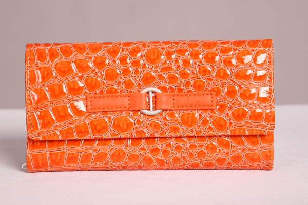 Orange Travel Jewelry Wallet