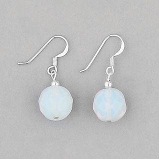 925 Sterling Silver Moonstone Ball Earrings