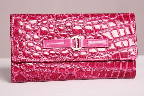 Fuscia Travel Jewelry Wallet