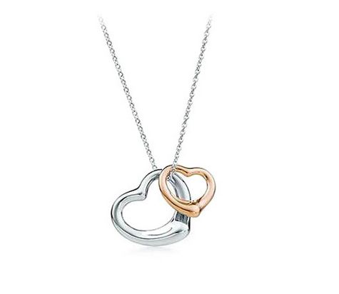 Double Love Heart 18k gold-plated Necklace