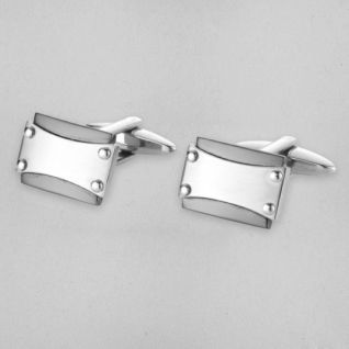Matte and Polished Stainless Steel Cufflinks by Blaze