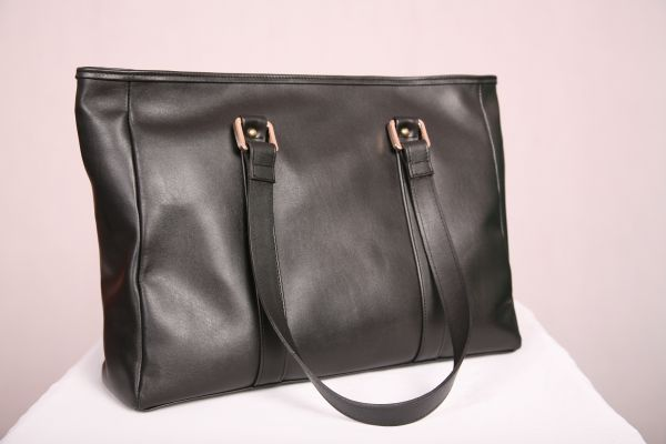 Black Premium Leather Tote