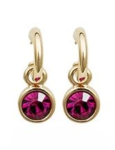 Rose Pink Austrian Crystals set in 18k Rose Gold Plated Circle Drop Earrings