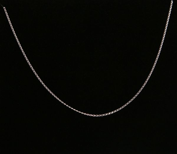 Italian Made 925 Sterling Silver Fine Open Curb Chain (45cm)