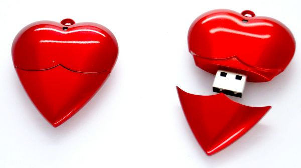 4GB Red Heart USB
