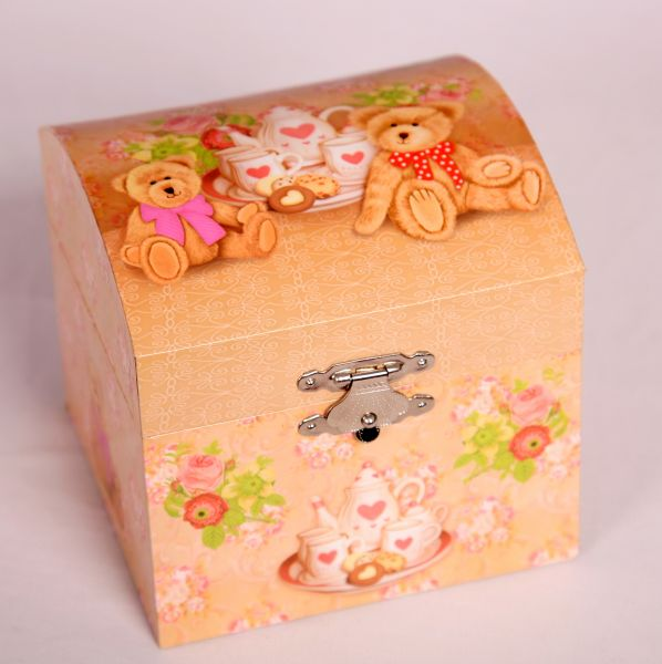 Dome Teddies Musical Jewellery Box