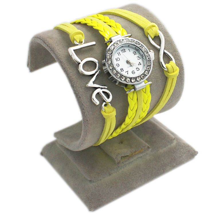 Yellow Leather Love Watch